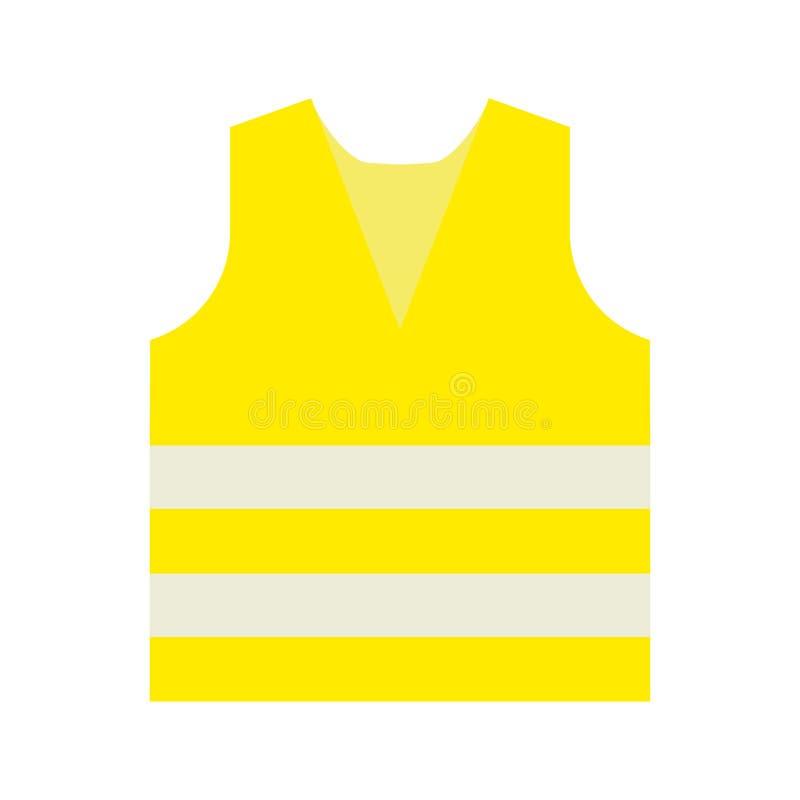 Vektorlogoillustration av en gul västsymbol för arbetare stock illustrationer