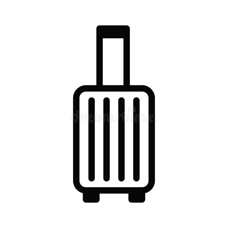 Vektorlogoillustration av en symbol för affärsresandespårvagnresväska stock illustrationer