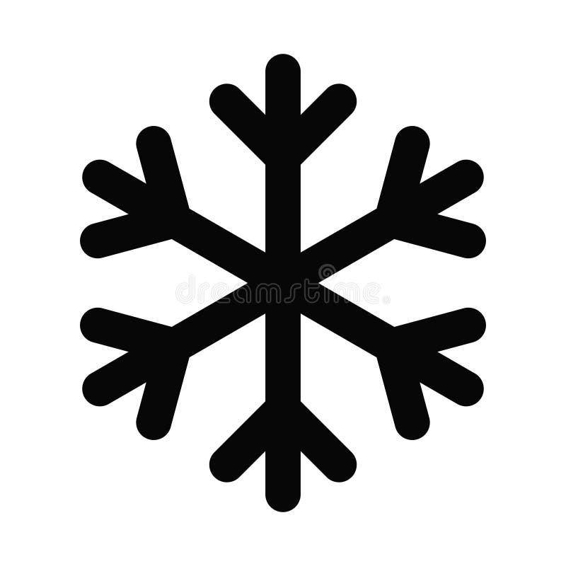 Vektorlogoillustration av snöflingasvartsymbolen vektor illustrationer