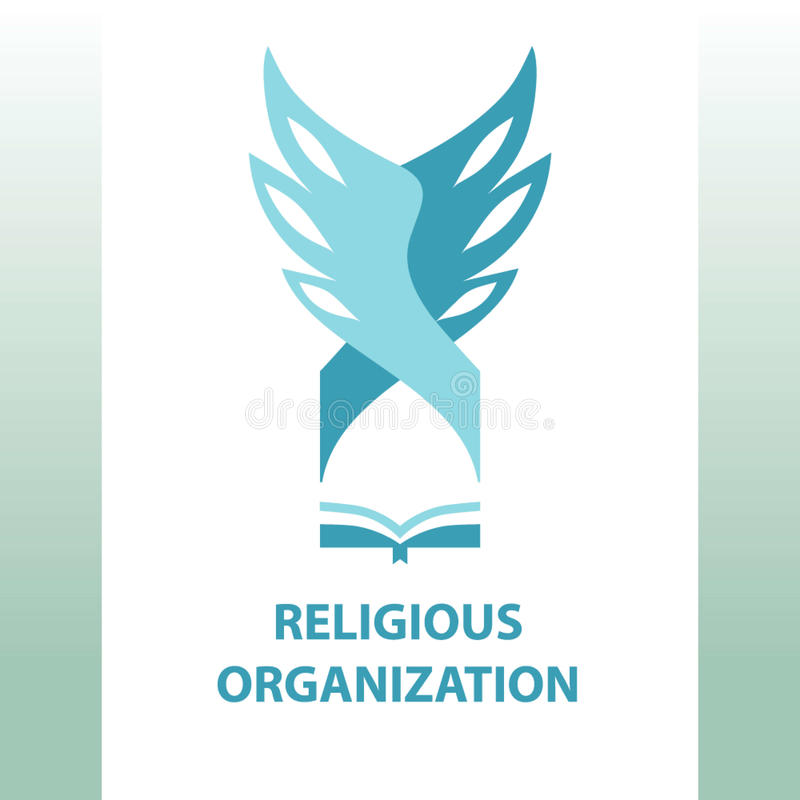 Vektorlogoreligiöse organisation der Gesellschaft lizenzfreie abbildung