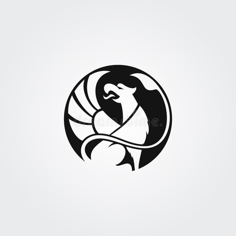 Vektorlogotypgrip i cirkel royaltyfri illustrationer