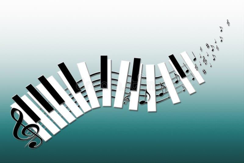 Vektorlustiges Musik keybord stock abbildung