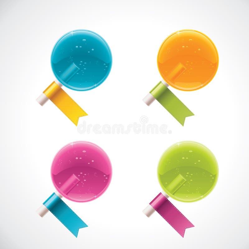 Vektorlutscher mit Farbbändern lizenzfreie abbildung
