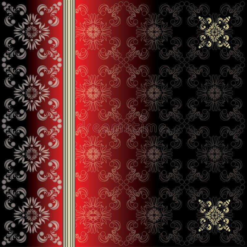 Vektorluxuritappning med dekorativa prydnader eps10 royaltyfri bild