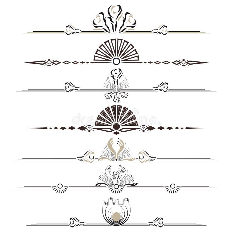 Vektorluxuritappning med dekorativa prydnader eps10 royaltyfri fotografi