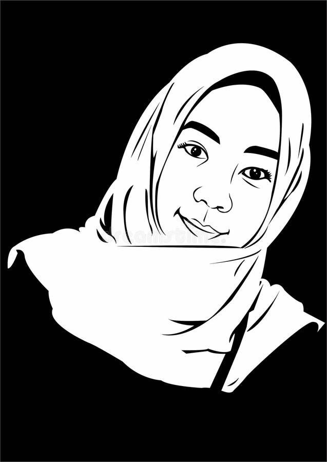 Vektormädchenkinderkindermädchen entwerfen schwarze weiße schöne Leutekunstkünste lizenzfreies stockfoto