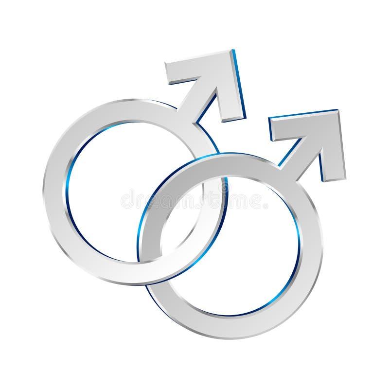 Vektormännliche u. männliche Symbole vektor abbildung