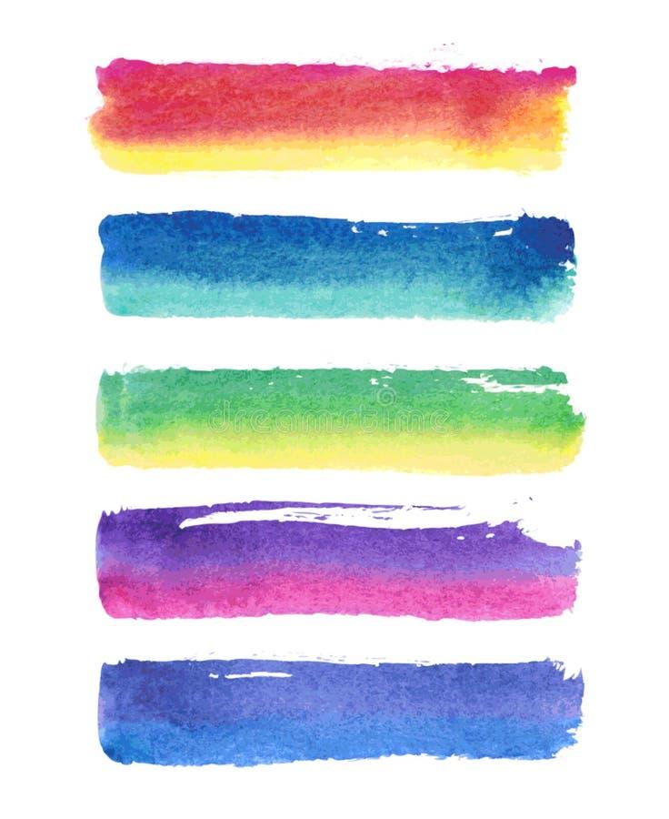 Vektormålarfärgband stock illustrationer