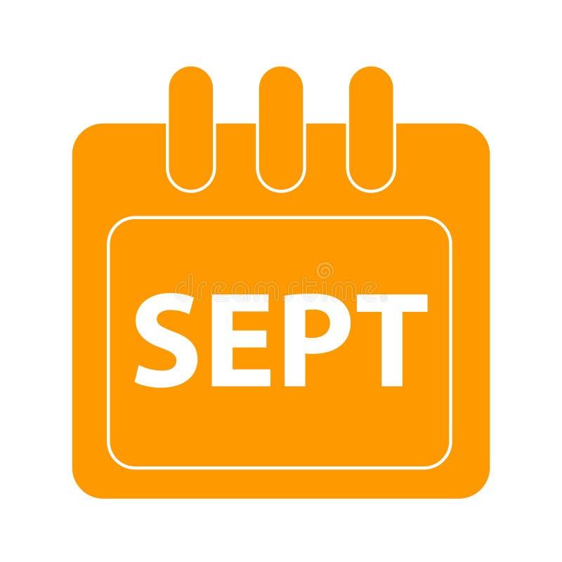 Vektormånad på kalender stock illustrationer