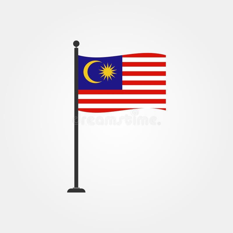 Vektormalaysia-Flaggenikone auf Lager 4 lizenzfreie abbildung