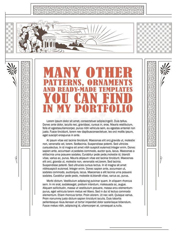 Vektormall för designen av annonseringar, flayer, rengöringsduk stock illustrationer