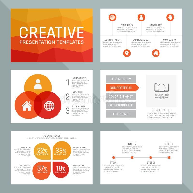 Vektormall för presentation som kan användas till mycket vektor illustrationer