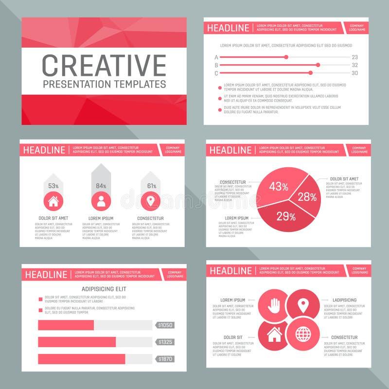 Vektormall för presentation som kan användas till mycket royaltyfri illustrationer