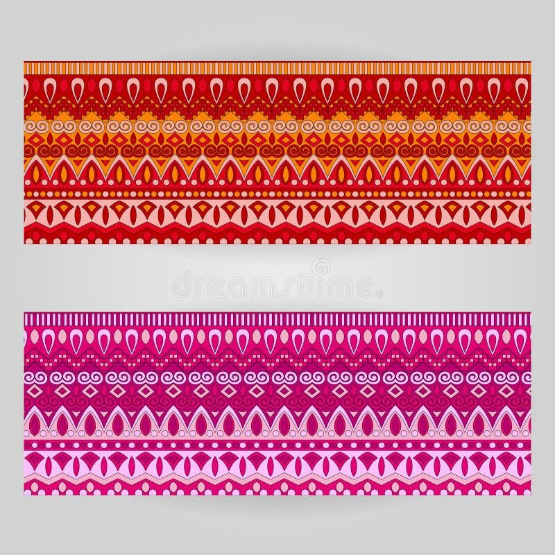 Vektormalluppsättning med dekorativt tema för konst royaltyfri illustrationer