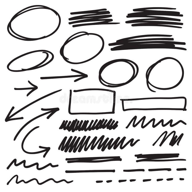 Vektormarkierungselemente vektor abbildung