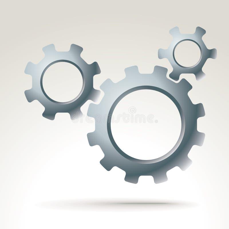 Vektormaschinengänge stock abbildung