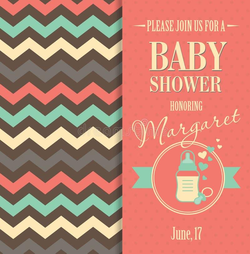 Vektormaterielillustration av baby shower stock illustrationer