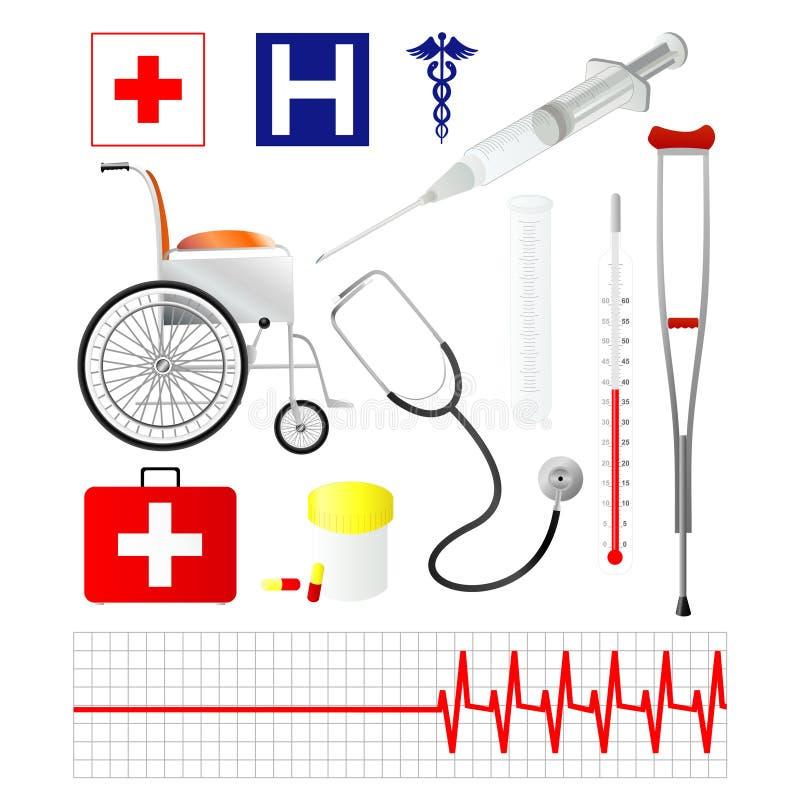 Vektormedizinische Ikonen   stock abbildung