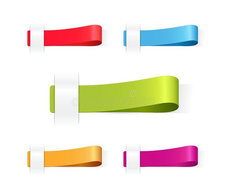 Vektormehrfarbige Markenkennsätze lizenzfreie abbildung