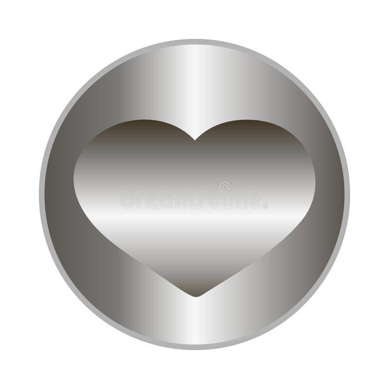 Vektormetalldiskett med hjärta vektor illustrationer