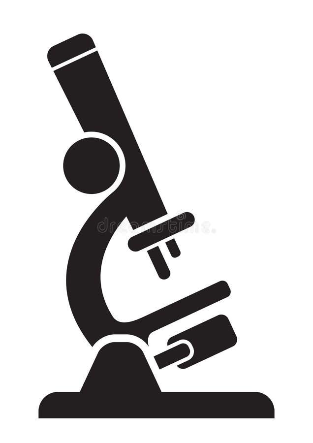 Vektormikroskopzeichen lizenzfreie abbildung