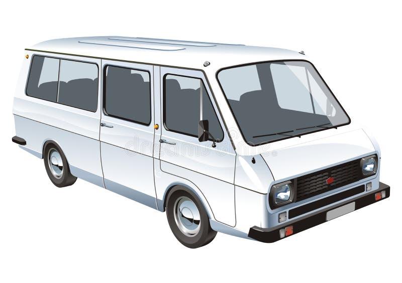 Vektorminibus getrennt stock abbildung