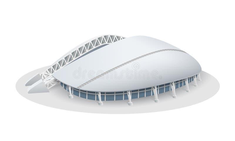 Vektormodell av Fisht stadion i Sochi vektor illustrationer