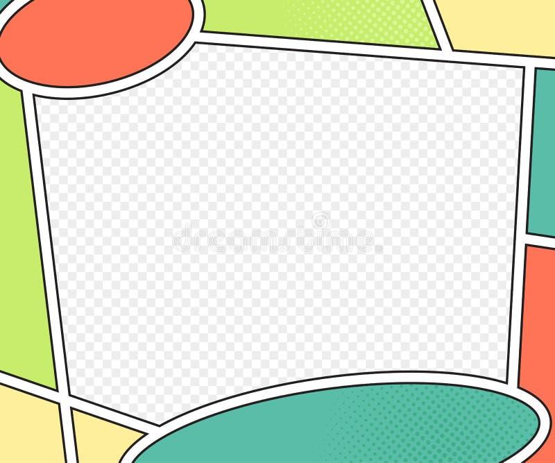 Vektormodell av humorboksidan stil för popkonst vektor illustrationer