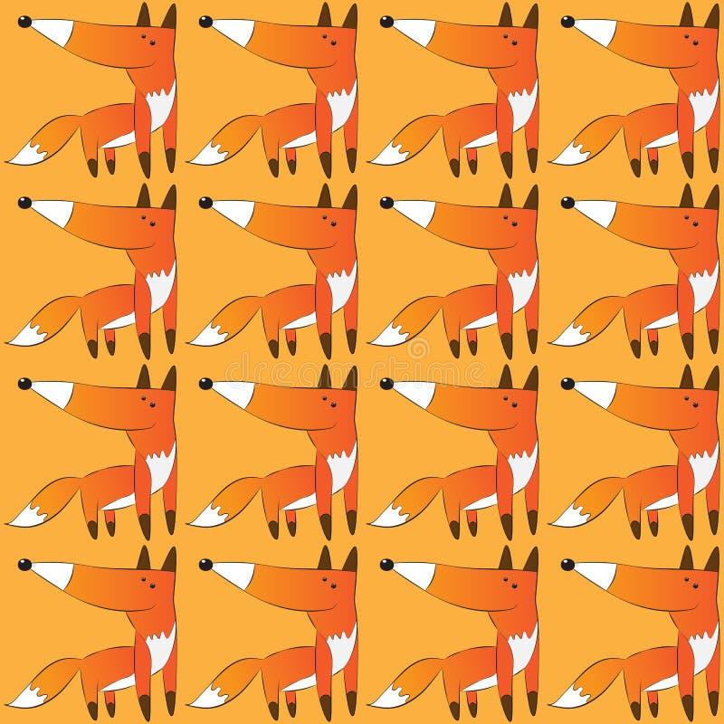 Vektormodell av räven royaltyfri bild