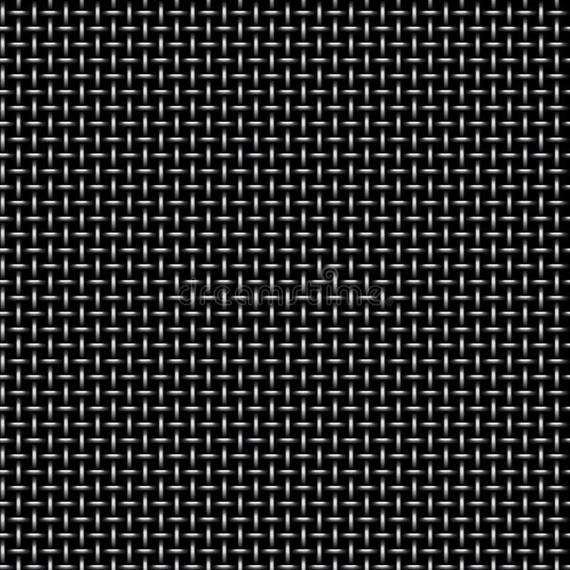 Vektormodell av sömlös bakgrund för metallraster Ändlös textur för järngaller Webbsidapåfyllningsmodell vektor illustrationer