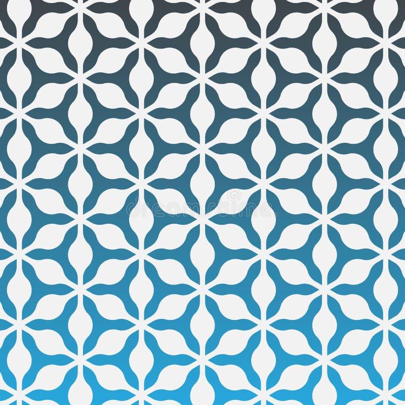 Vektormodelldesign med ogeeprydnaden Orientalisk traditionell modell med den upprepade mosaiktegelplattan stock illustrationer