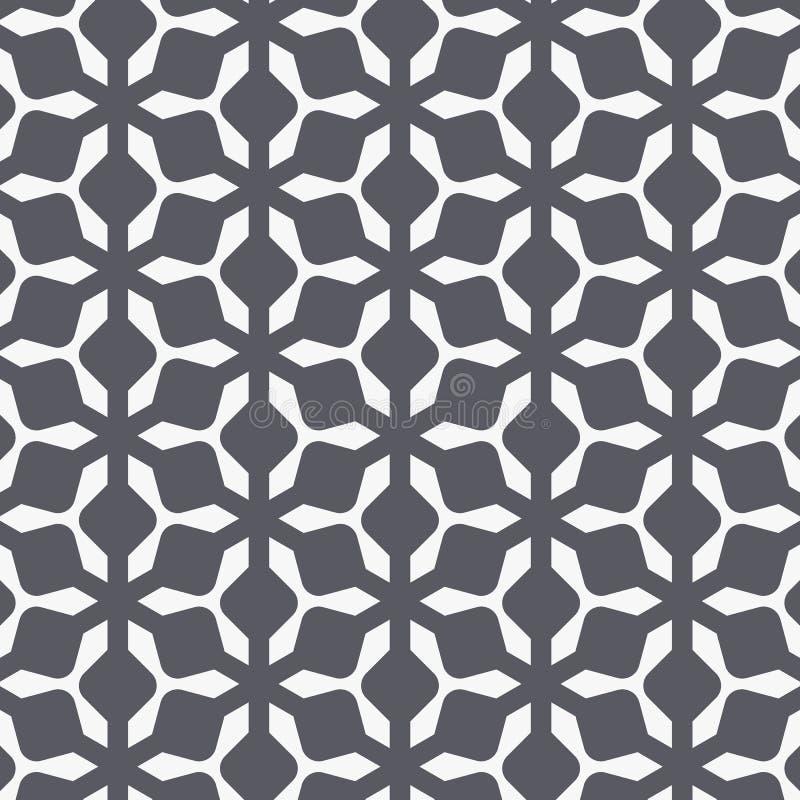 Vektormodelldesign med ogeeprydnaden Orientalisk traditionell modell med den upprepade mosaiktegelplattan Marockanskt korsmotiv stock illustrationer