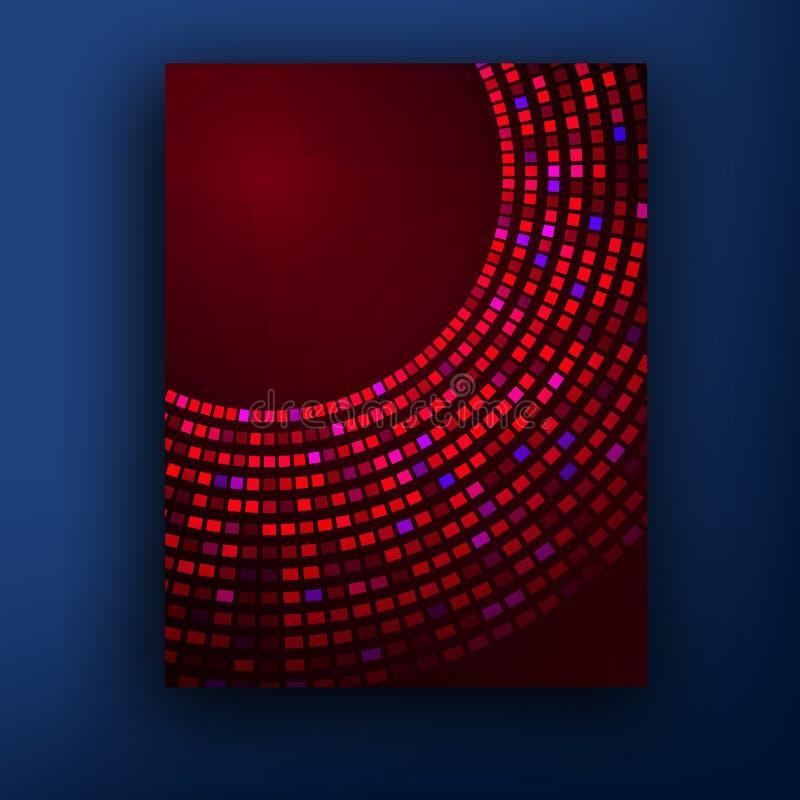 Vektormodellen med abstrakt begrepp figurerar broschyrer vektor illustrationer