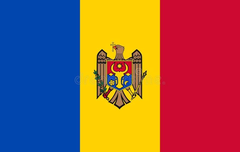 VektorMoldavien flagga, Moldavien flaggaillustration, Moldavien flaggabild, Moldavien flaggabild, vektor illustrationer
