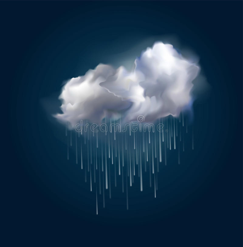 Vektormoln och regn vektor illustrationer