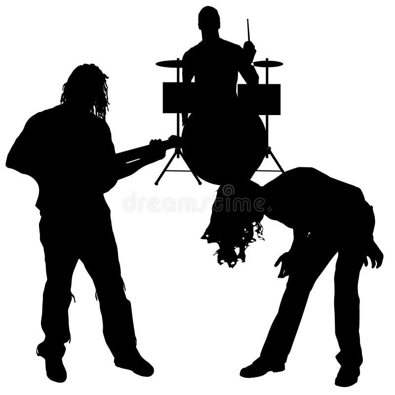 Vektormusikerkontur vektor illustrationer
