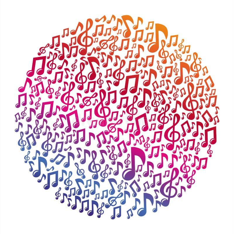 Vektormusikkonzept - musikalische Anmerkungen lizenzfreie abbildung