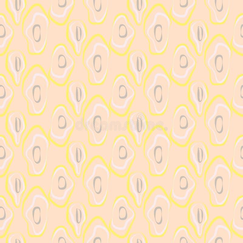 Vektormuster der ovalen rauen Fliesen des Mosaiks nahtloses vektor abbildung