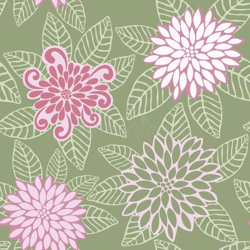 Vektormuster der rosafarbenen Blumen vektor abbildung