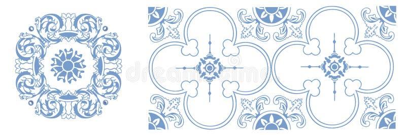Vektormuster von portugiesischem keramischem lizenzfreie stockfotografie