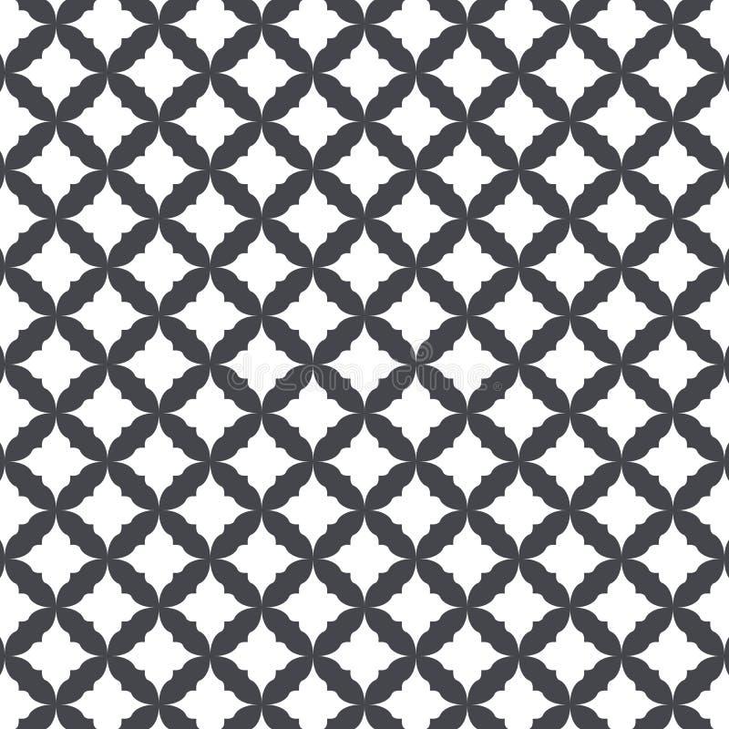 Vektormusterdesign mit ogee Verzierung Orientalisches traditionelles Muster mit wiederholter Mosaikfliese Marokkaner kreuzt Motiv lizenzfreie abbildung