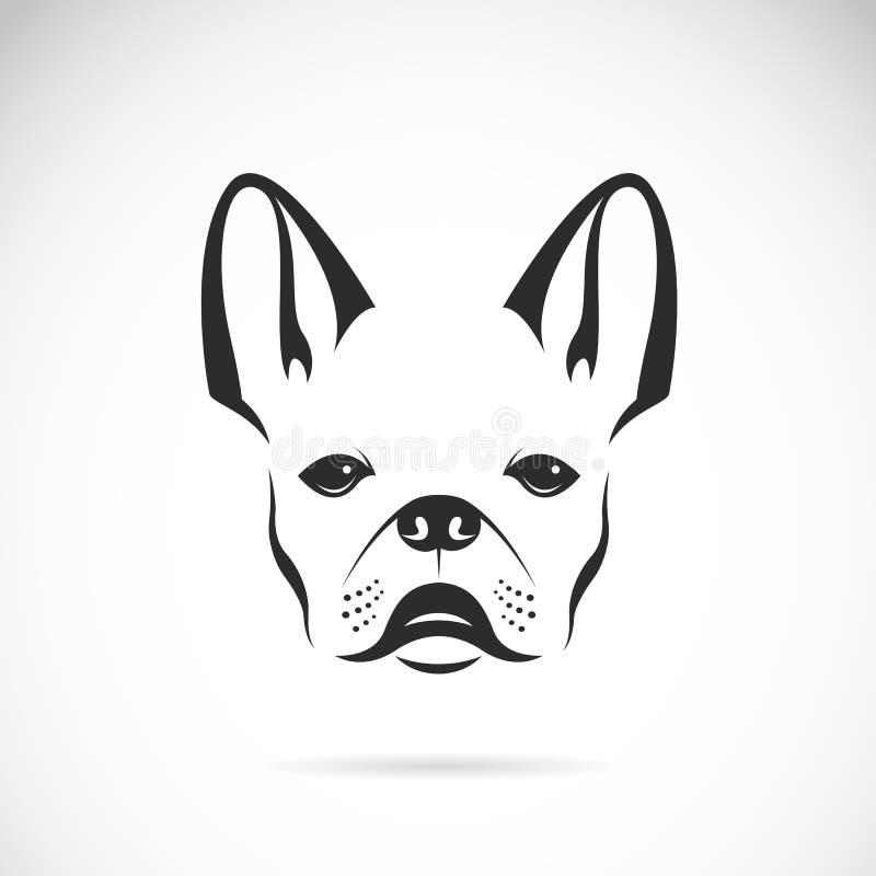 Vektorn avbildar av en förfölja (bulldoggen) royaltyfri illustrationer
