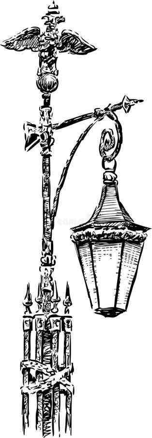 Lampa med örnen royaltyfri illustrationer