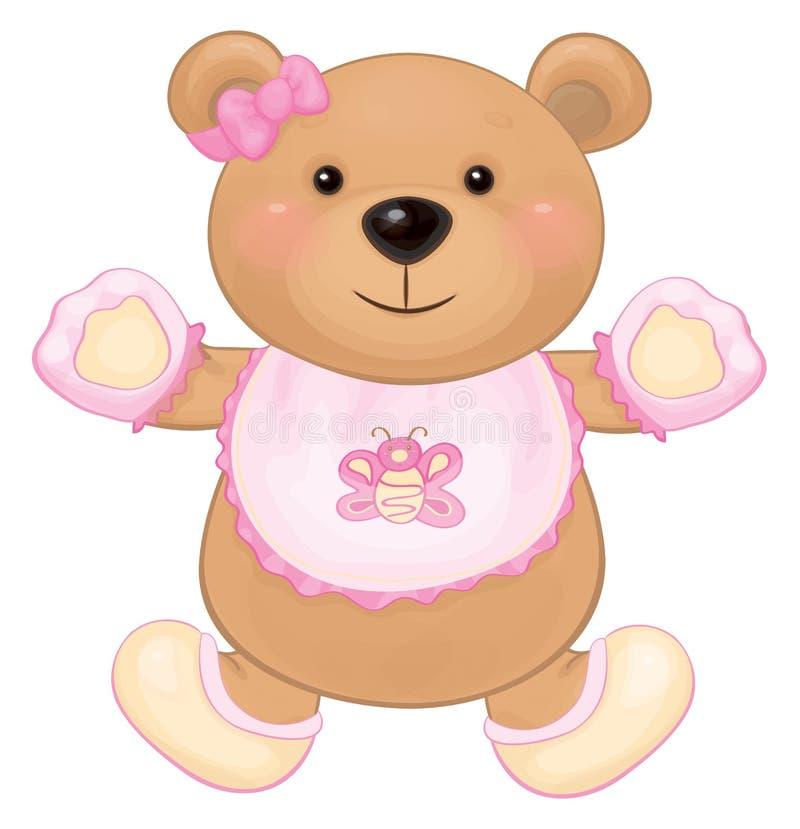 Vektorn behandla som ett barn björnflickan vektor illustrationer