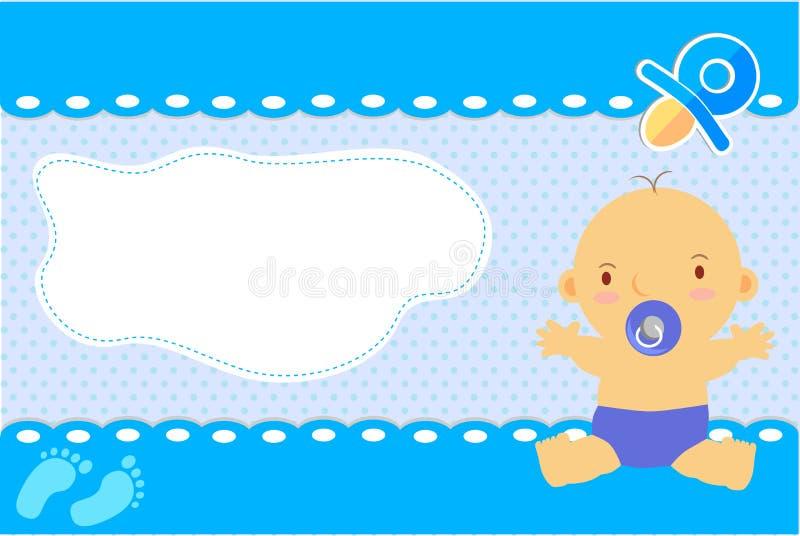 Vektorn behandla som ett barn pojkehälsningkortet vektor illustrationer