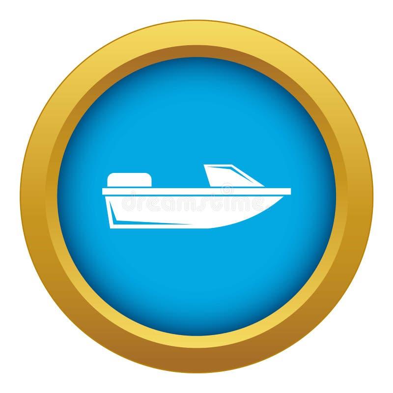Vektorn för blått för sportpowerboatsymbolen isolerade stock illustrationer