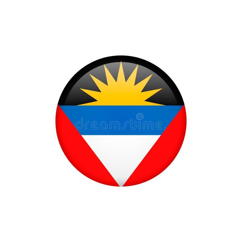 Vektorn för den Antiguabarbuda flaggan isolerade 5 vektor illustrationer