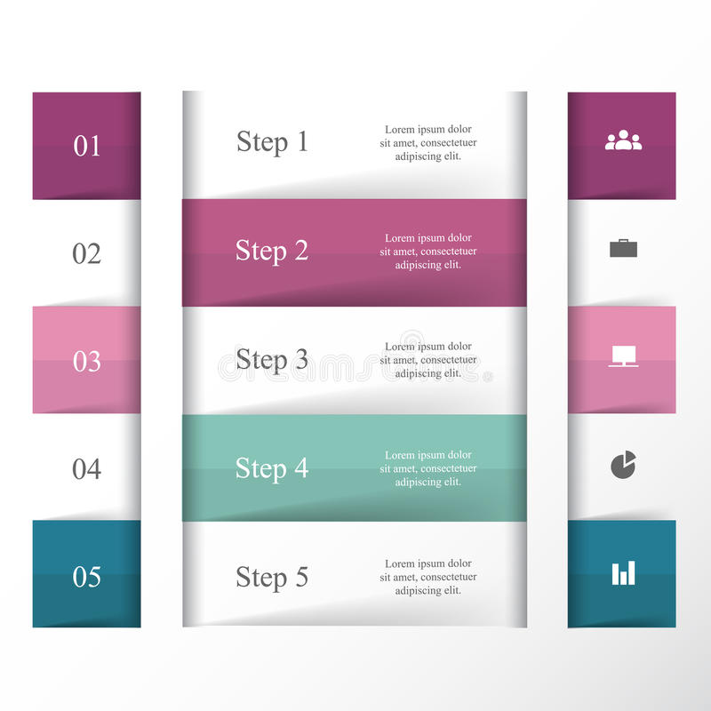 Vektorn fodrar infographic royaltyfri illustrationer