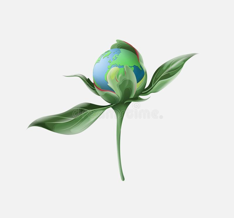 Vektorn går gräsplanräddningvärlden vektor illustrationer