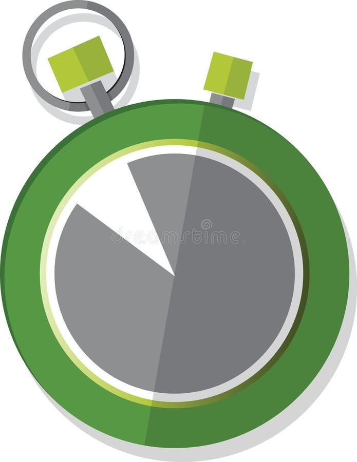 Illustrerad stopwatch stock illustrationer